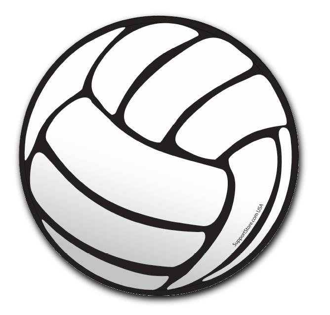A Classy Black And White Art Volleyball Round Car Magnet On - Make a custom car magnet