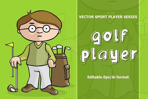 VECTOR Golf player by jordygraph on Creative Market
