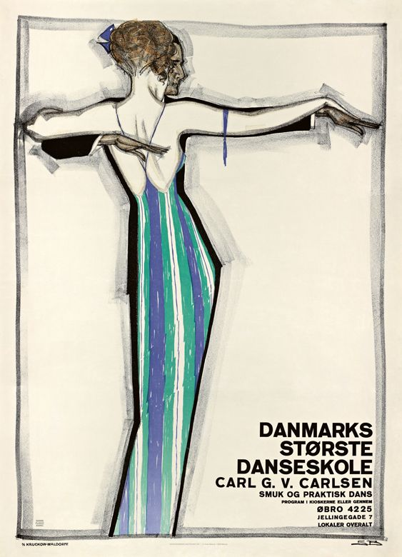 Sven Brasch Danmarks Storste Danseskole 1921 Art Deco Posters