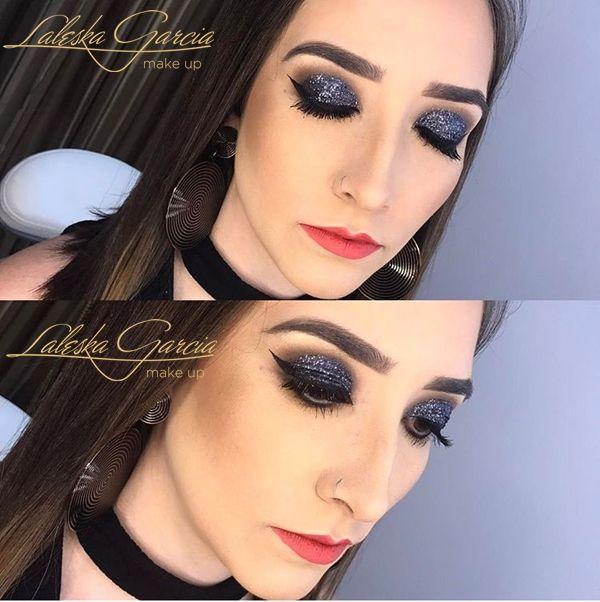 Fabuloso Maquiagem que combina com vestido preto: +fotos incríveis para  JV42