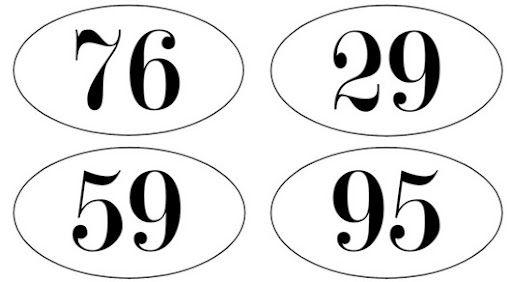 Vintage Font Numbers
