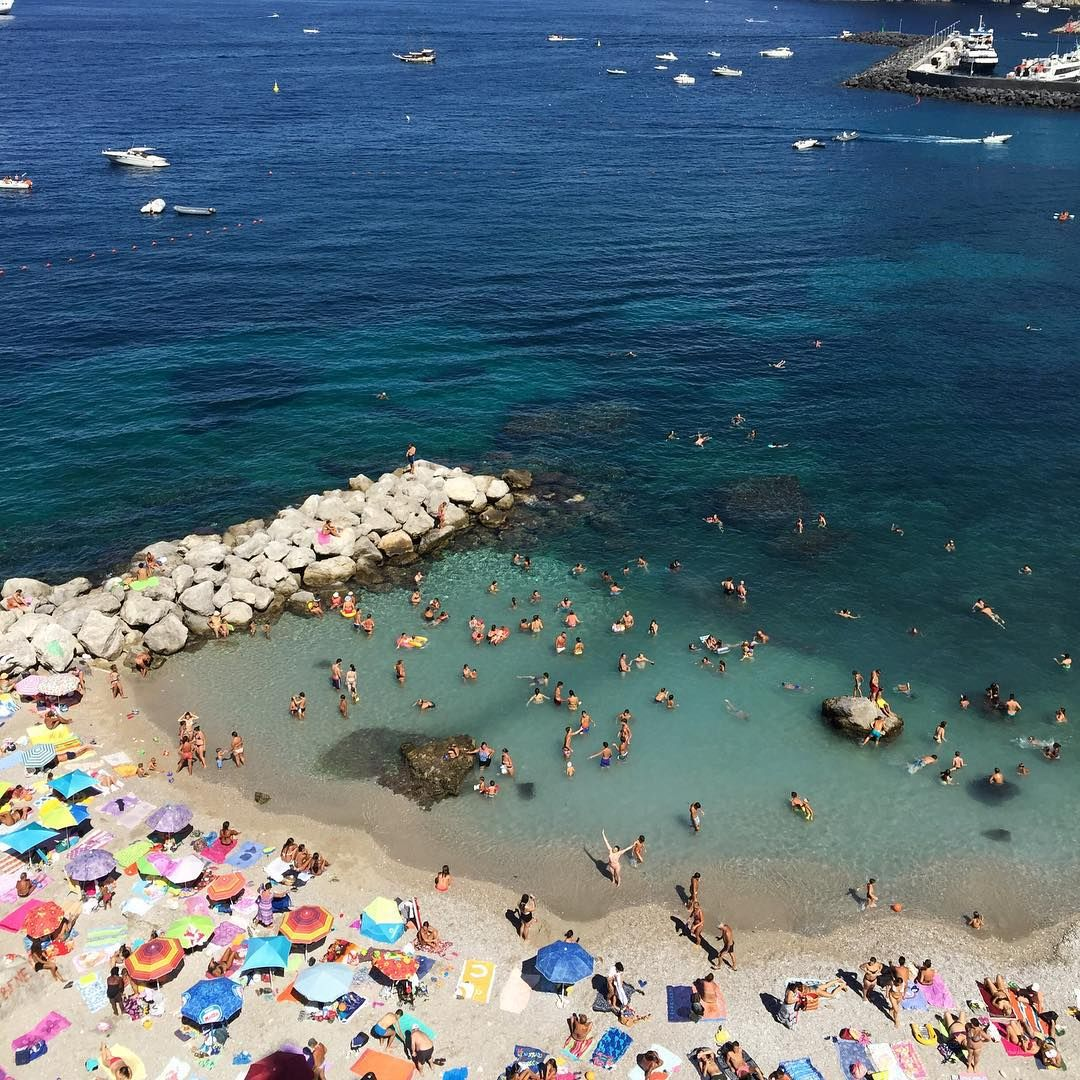 Capri Italy Photography Turquoise Blue Decor by VitaNostra  |Capri Beach Scenes