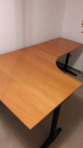 IKEA Effektiv Bürotisch Schreibtisch Ecktisch Tisch Echtholzsparen25 - ikea küche tisch
