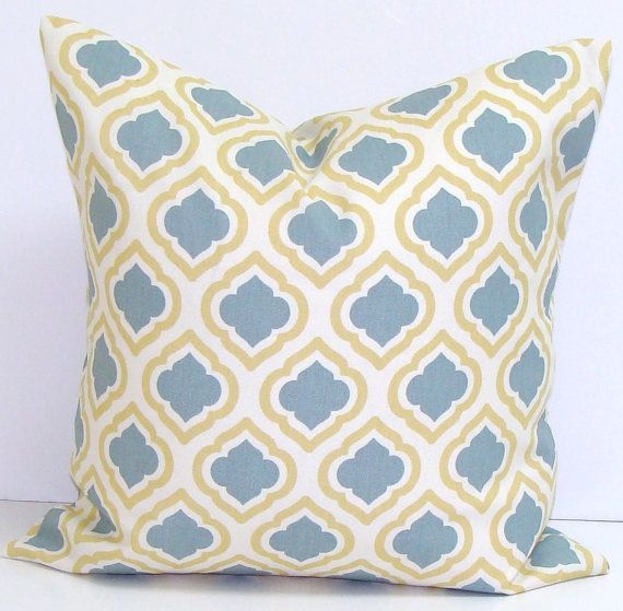 BLUE YELLOW EURO Pillow40x40 40x40 40x40 Or 40x40 InchPillow Best Blue And Yellow Decorative Pillows