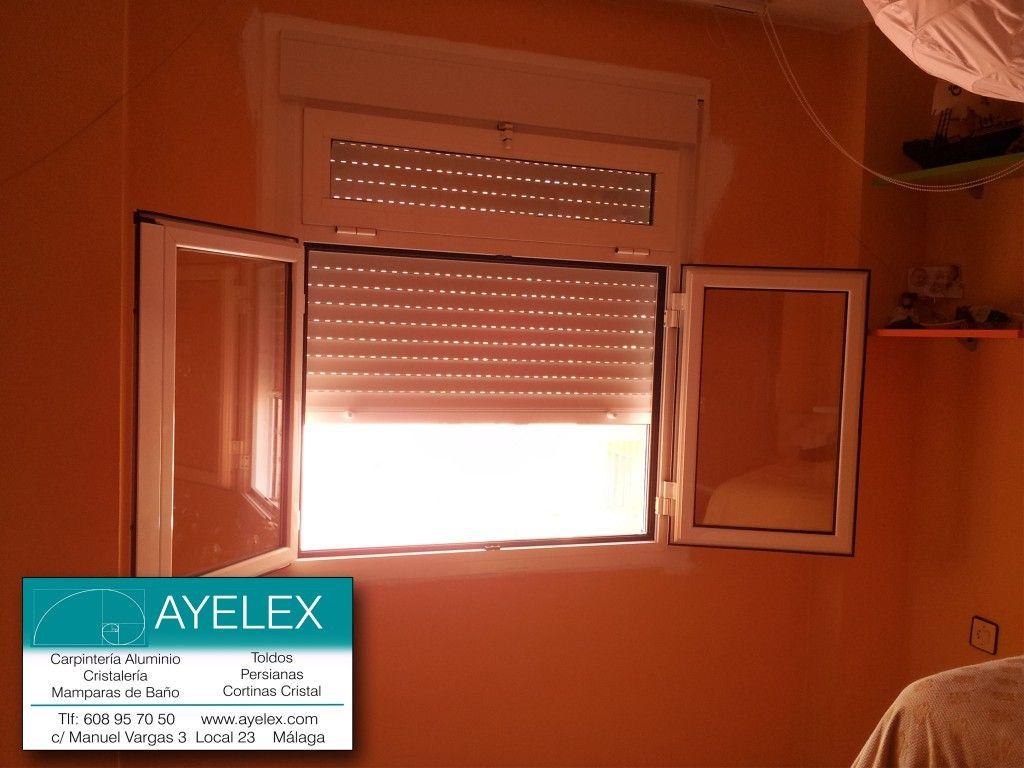 Ventanas aluminio abatibles con basculante superior serie for Ventanas de aluminio con persiana baratas