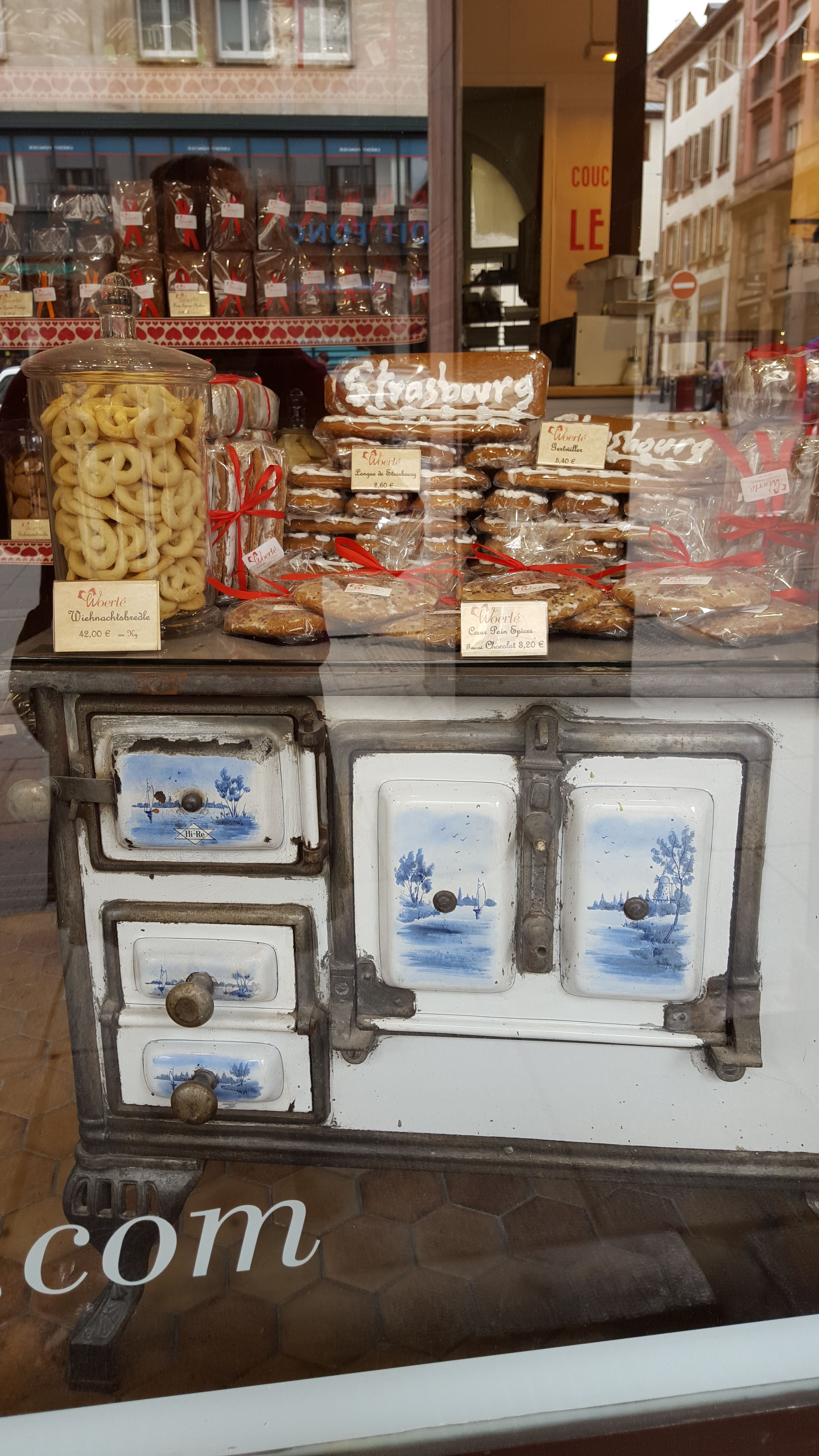 German bakery with antique stove