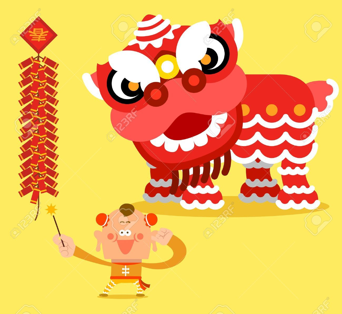 Image by Shutterstock Chinese Lion Dance Men/'s Tee