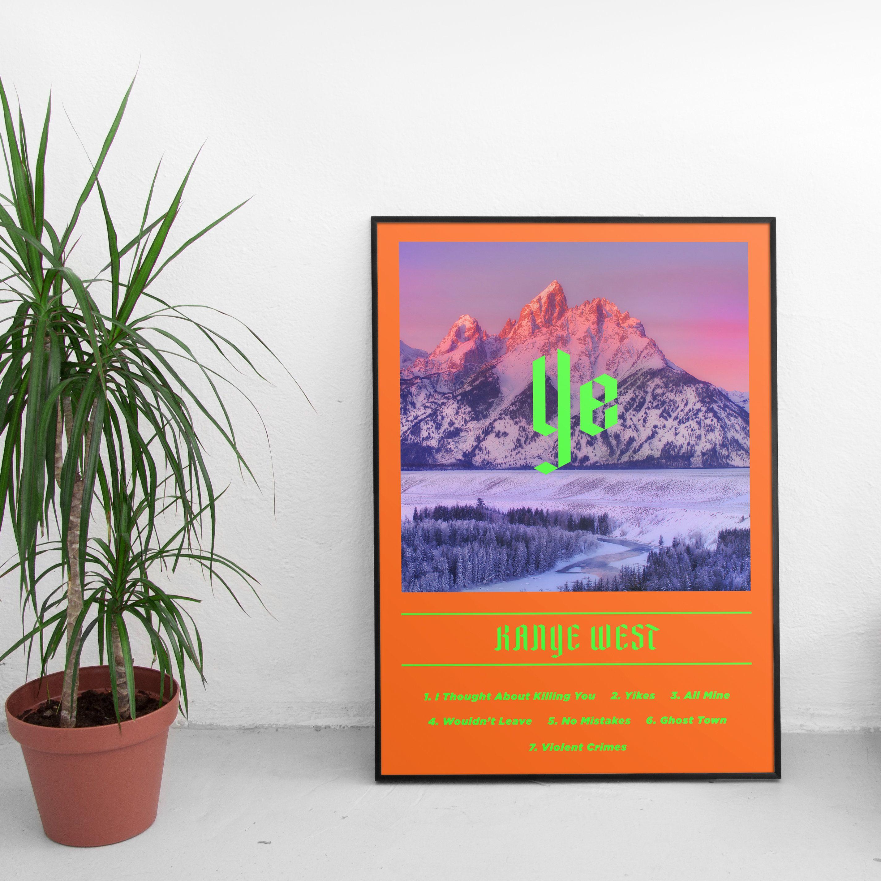 Kanye West Ye Album Print Ye Album Merch Ye Album Poster Kanye West Hip Hop Print Kanye West Poster Kanye West Art Hip Hop Poster West Art Poster Prints