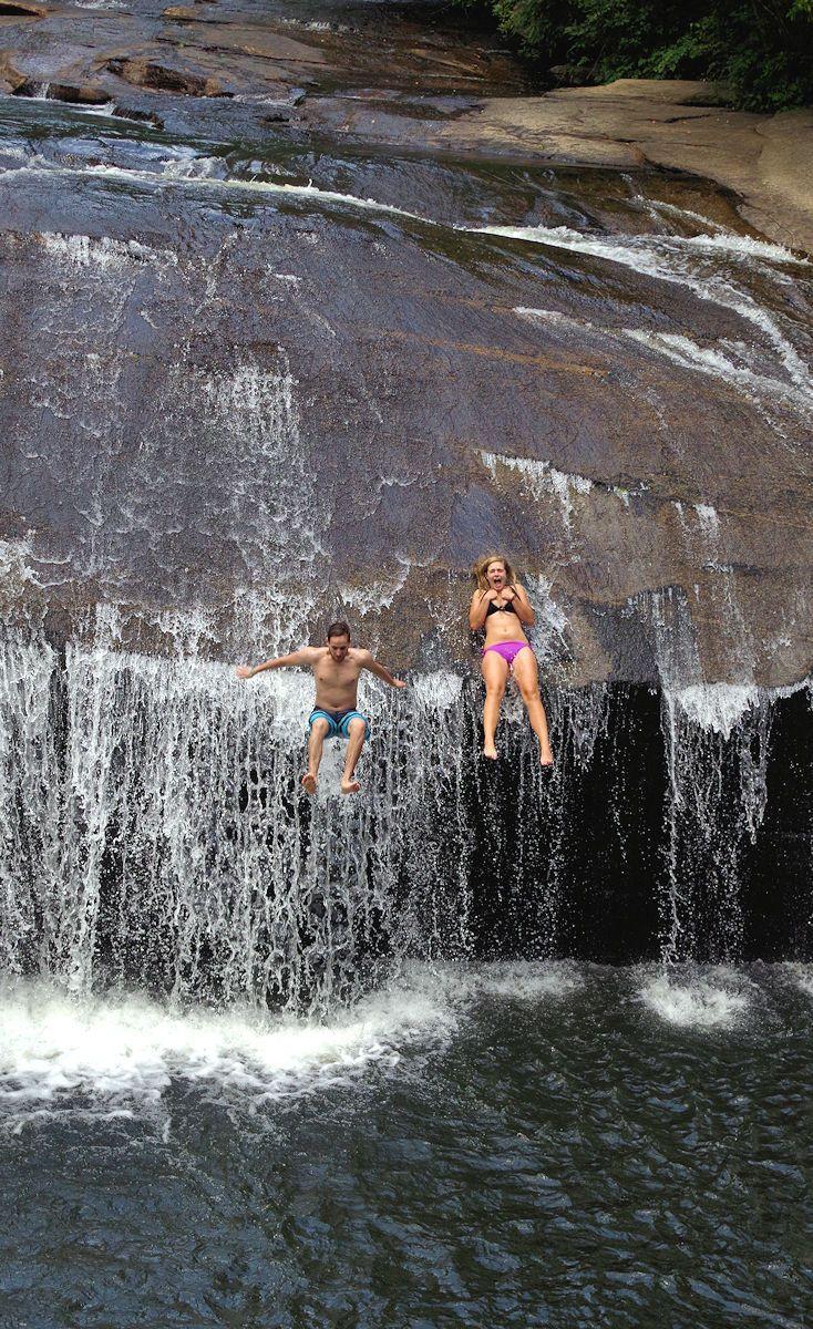 Turtleback Falls A Natural Water Slide In Pisgah