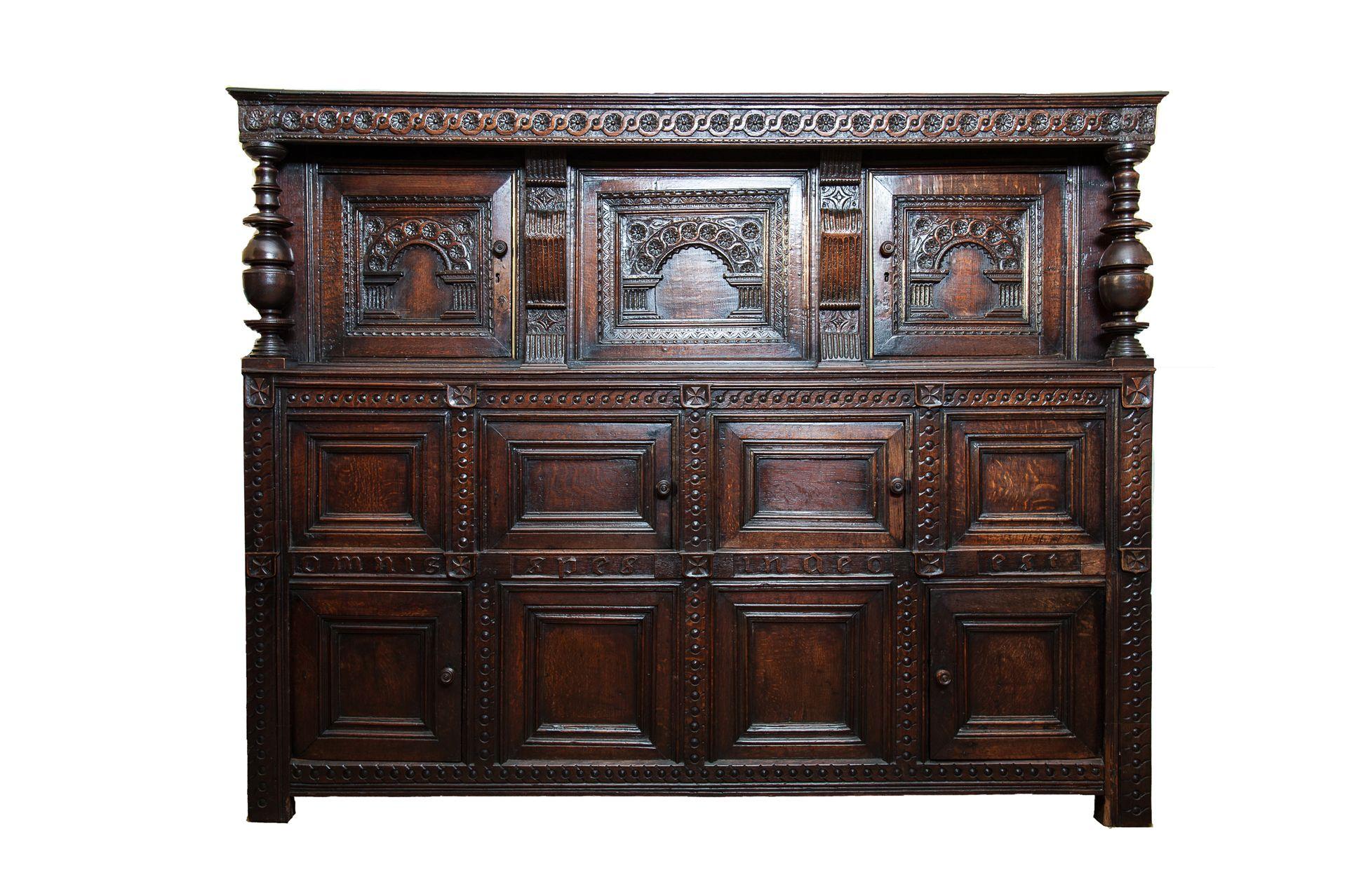 Elizabethan press cupboard, Marhamchurch antiques