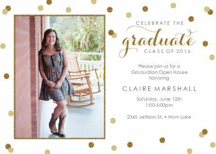 glitter confetti graduation announcement graduation party