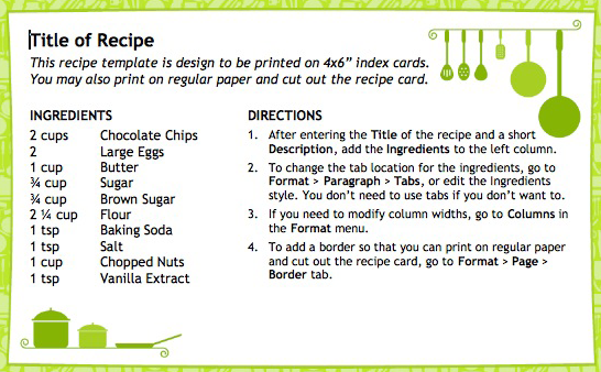 1000 images about Recipes Cards You can make at home – Templates for Recipe Cards