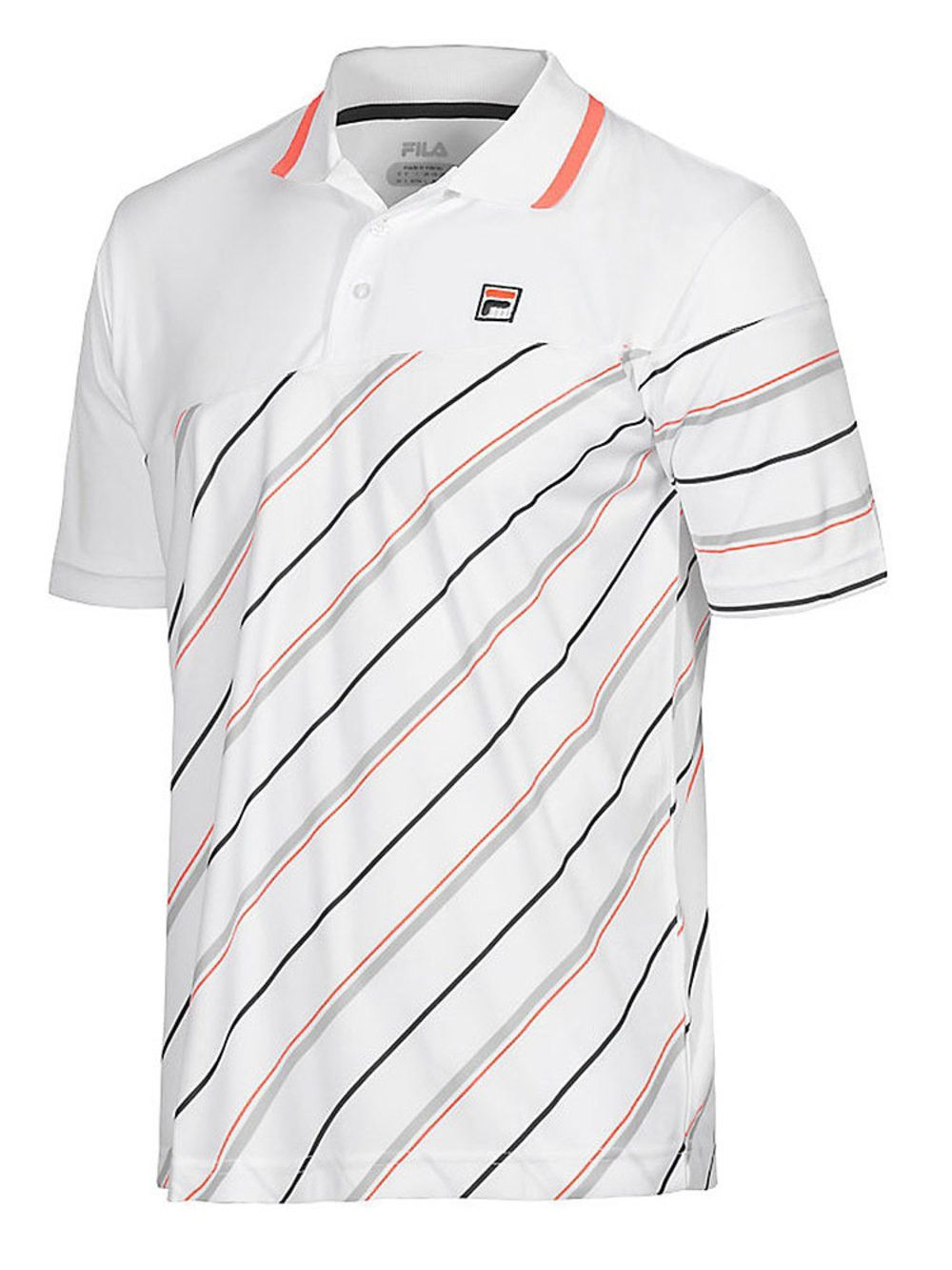 c1c765fb43137 Collezione Yarn Dyed Polo Shirt by Fila - White