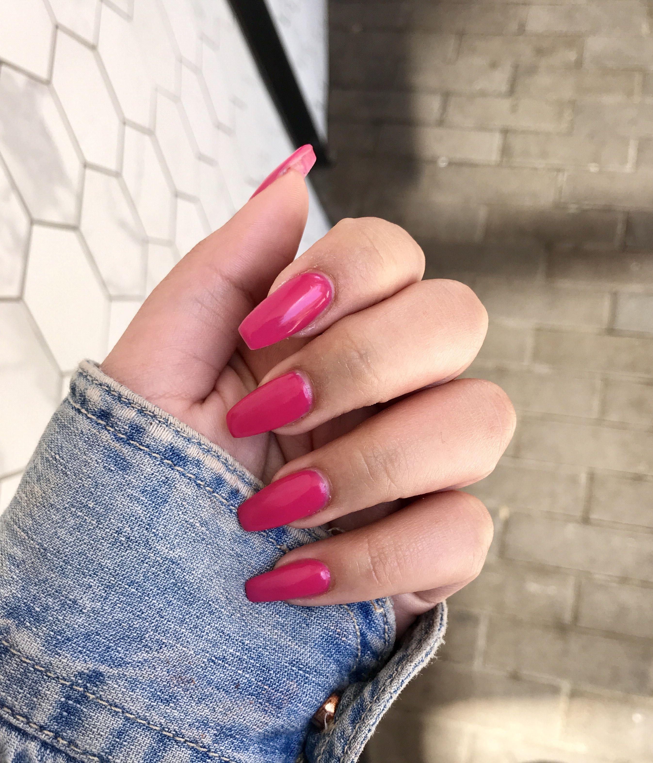 💅🏽🌸 in 2020 | Pink acrylic nails, Acrylic nails, Pink acrylics