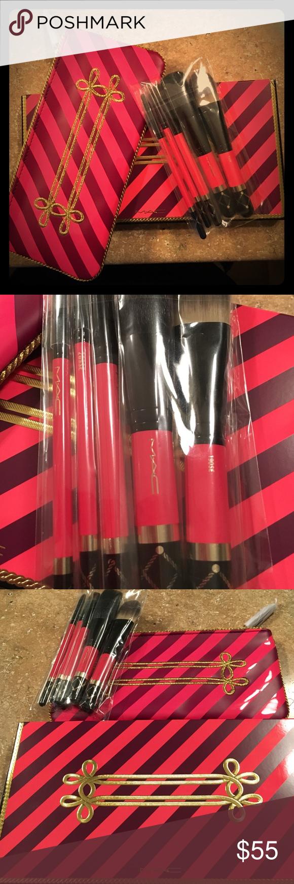 MAC 6 piece makeup brush set Mac makeup brushes, Makeup