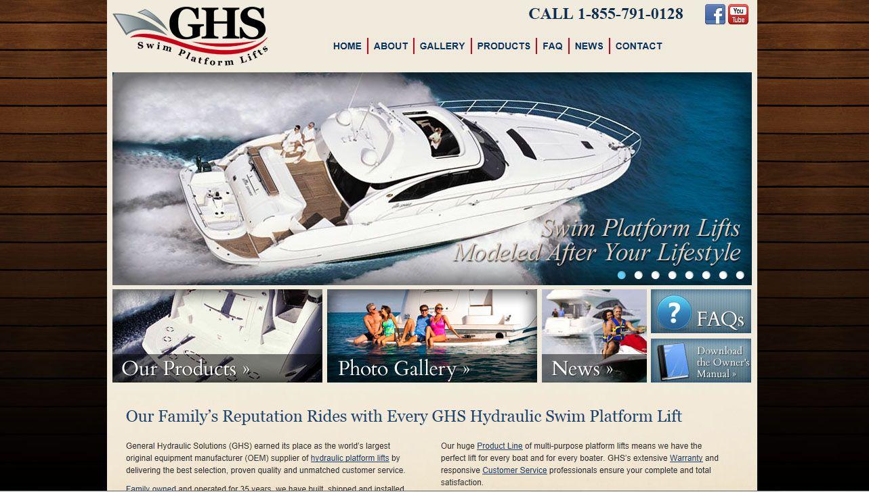 A Luxurious Feel For Ghs Swim Platform Lifts Portfolio Web Design Web Design Wordpress Theme