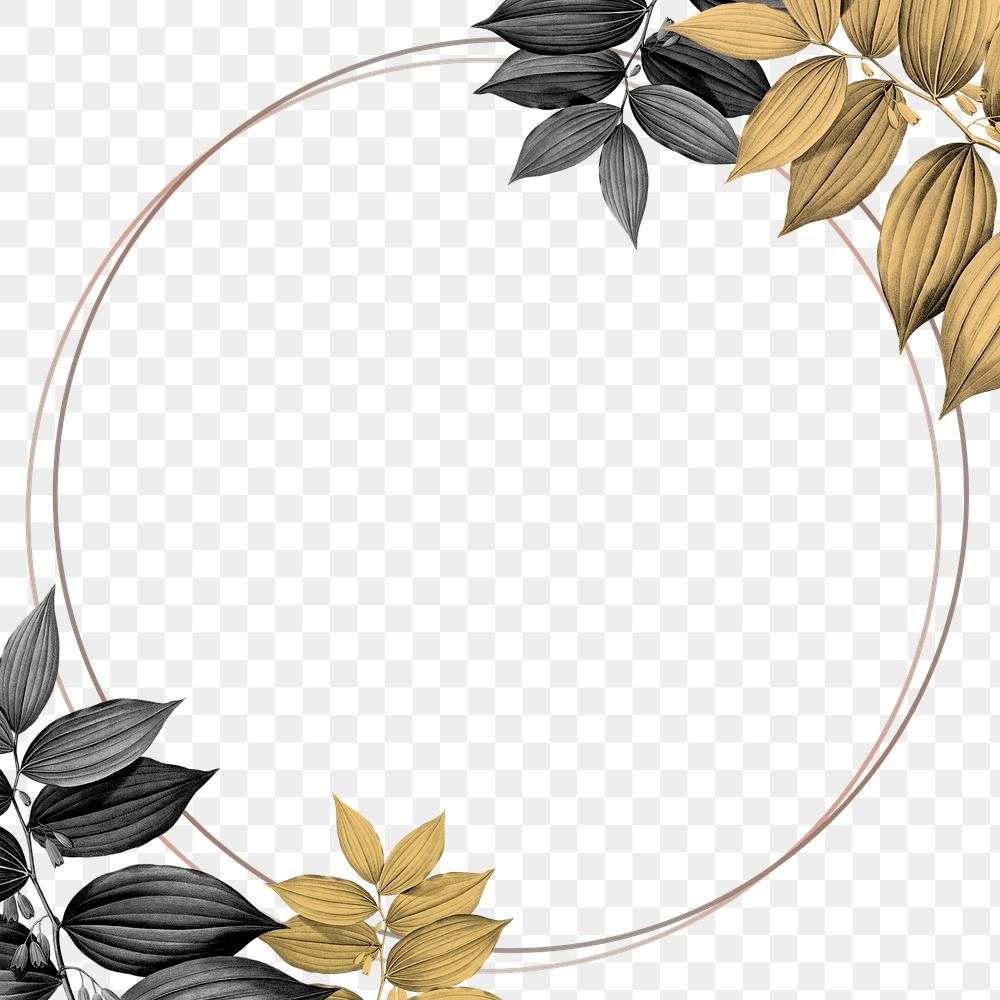 Round Gold Frame With Foliage Pattern Design Element Free Image By Rawpixel Com Gade Gold Frame Design Element Pattern Design