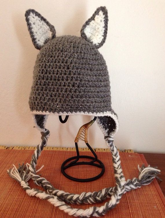 Wolf  Crochet Hat  Pattern by Grammabeans on Etsy  fbba4ac6656