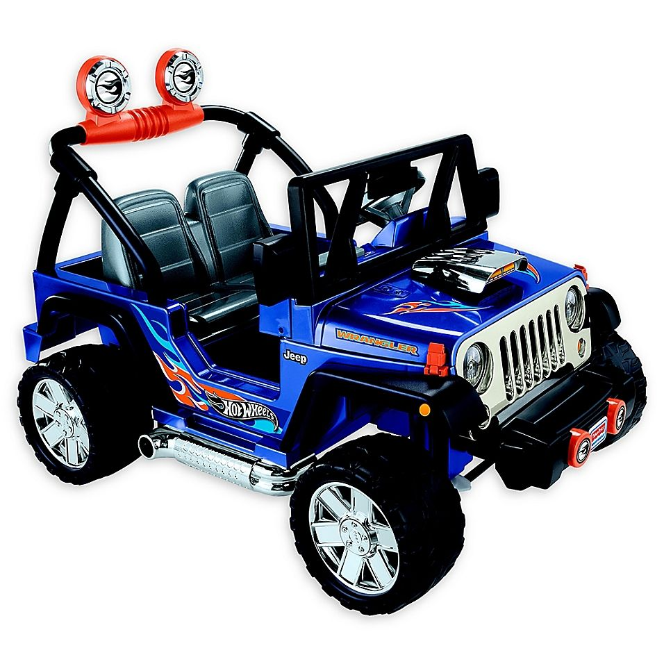 Fisher Price Power Wheels Hot Wheels Jeep Wrangler Blue Jeep