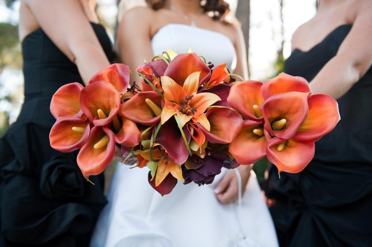 Burnt Orange Wedding Colors | sharon nagassar designs bridal wedding ...