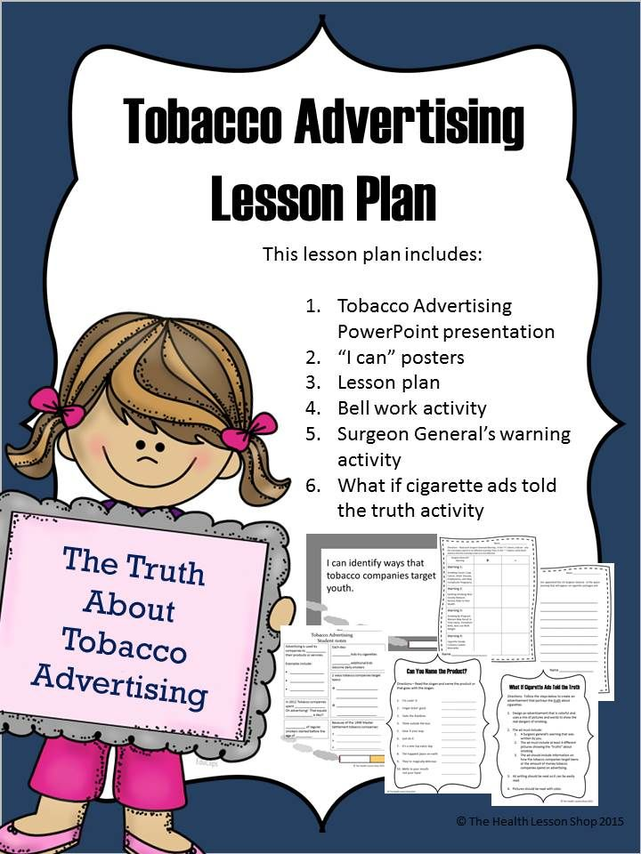 Tobacco Advertising Lesson Plan Health lesson plans