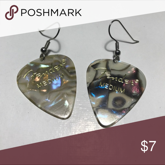 Guitar Pick Earrings Never Worn Slightly Differ In Color But Thats What Makes Them Unique