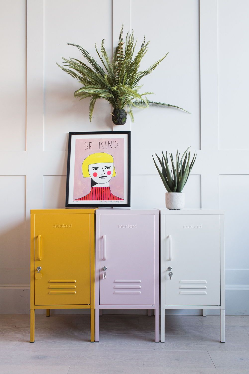 Colourful Cool Storage Lockers Rose Grey