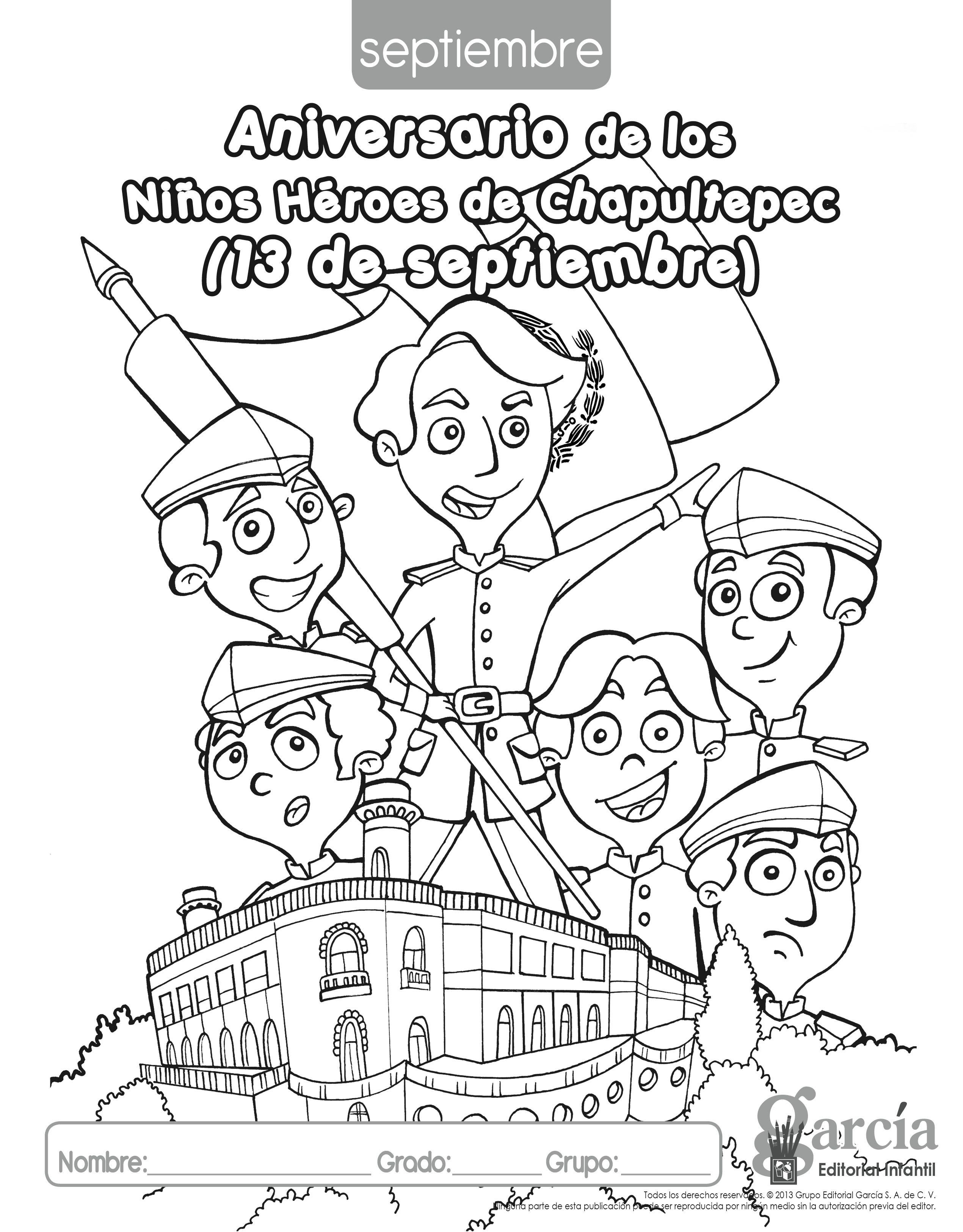 Dibujos Para Colorear De La Independencia De Mexico Para Niños