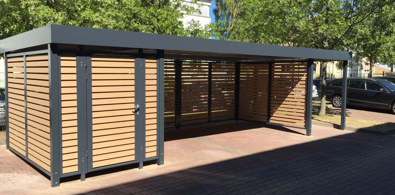 einhausung fahrradunterstand fahrradeinhausung von siebau carport einhausungen. Black Bedroom Furniture Sets. Home Design Ideas