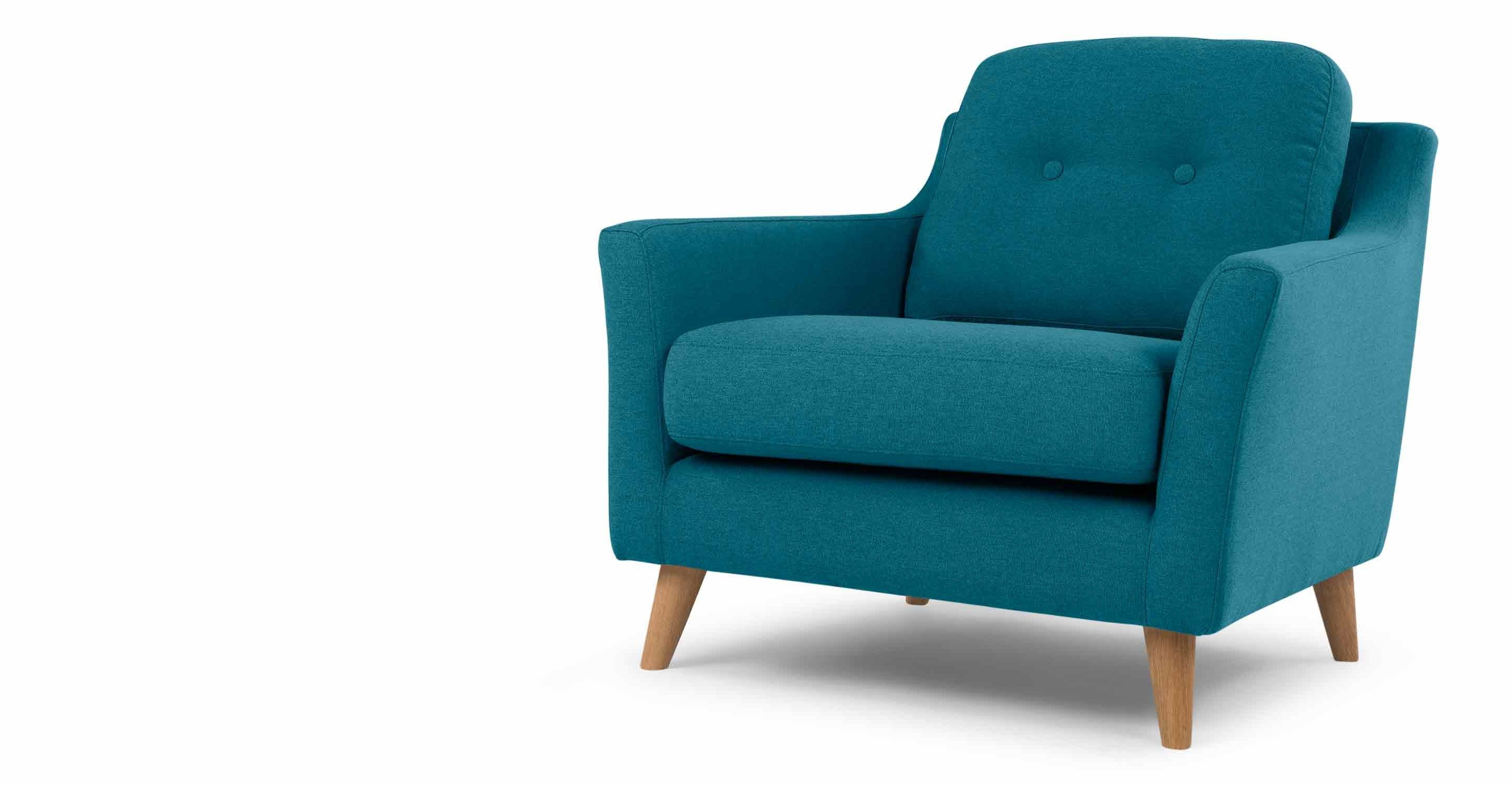 Made Rich Azure Armchair Teal Couch Grey Armchair