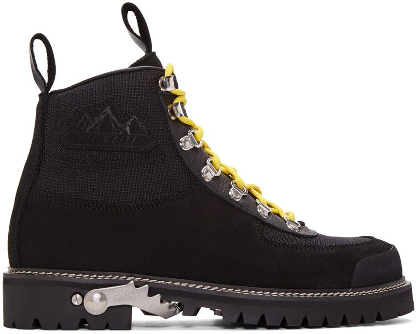 f971b86b34 OFF-WHITE Black Cordura Hiking Boots. #off-white #shoes #boots | Off ...