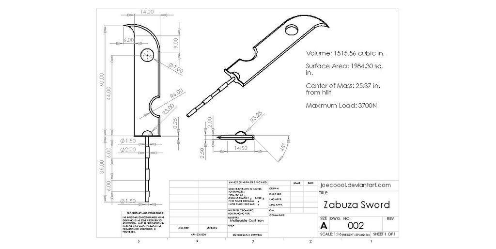 Eng Drawing Zabuza S Sword By Joecoool Sword Sword