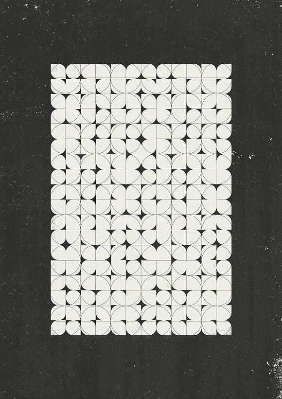 Black and White Retro Pattern Design by Marius Roosendaal #graphicart