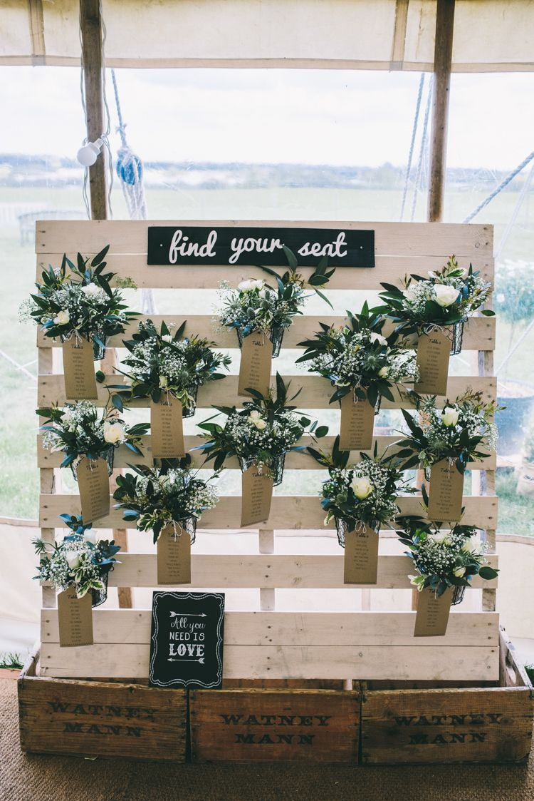Home Made Blush Country Festival Wedding | Pallet crates, Table ...