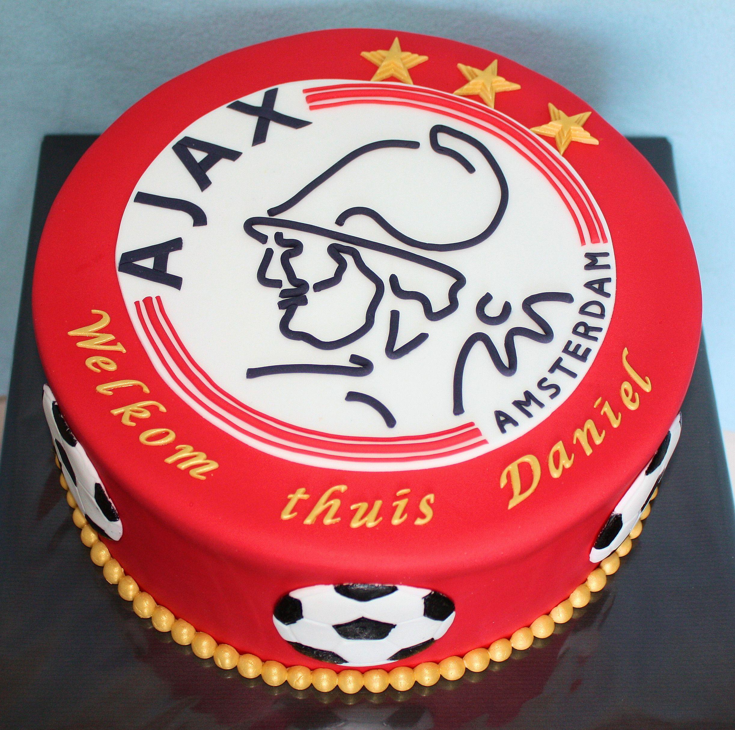 Zeer Ajax Taart / Ajax cake | torty in 2019 - Soccer cake, Birthday #CB25