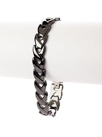 Arrow Link Bracelet, Dark Grey, One Size