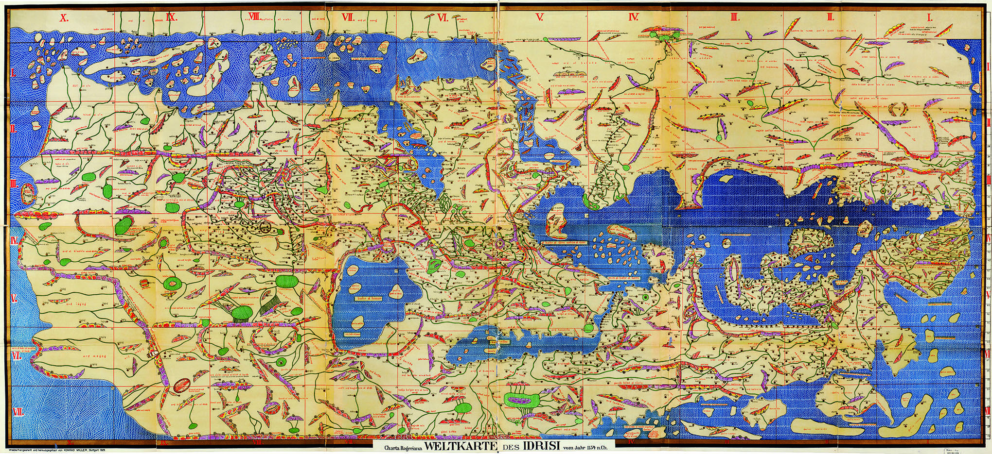 Map Of The World Before Columbus.Three Centuries Before Columbus A Reproduction Of Muhammad Al