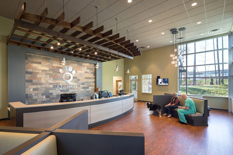 Quartet Veterinary Specialty Emergency Hospital Animal Arts Hospital Design Hospital Design Lobby Waiting Room Design