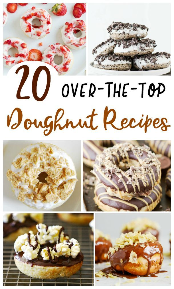 Treat Yo' Self! 20 Over-The-Top Donut Recipes | The Mama Maven Blog #donuts #donutrecipes #yummy #delicious #sogood #overthetopdonuts #extremedonuts #makethese #sogood