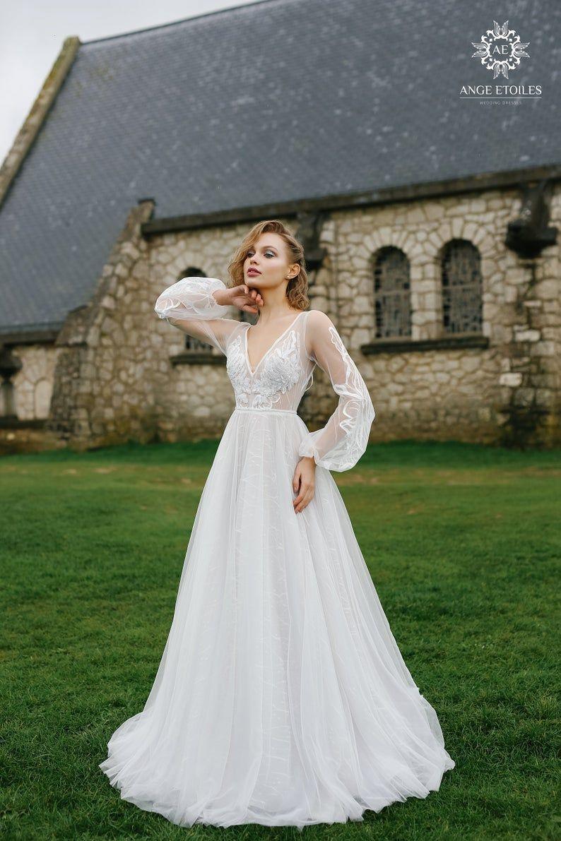 11++ A line wedding dress with sleeves ideas ideas
