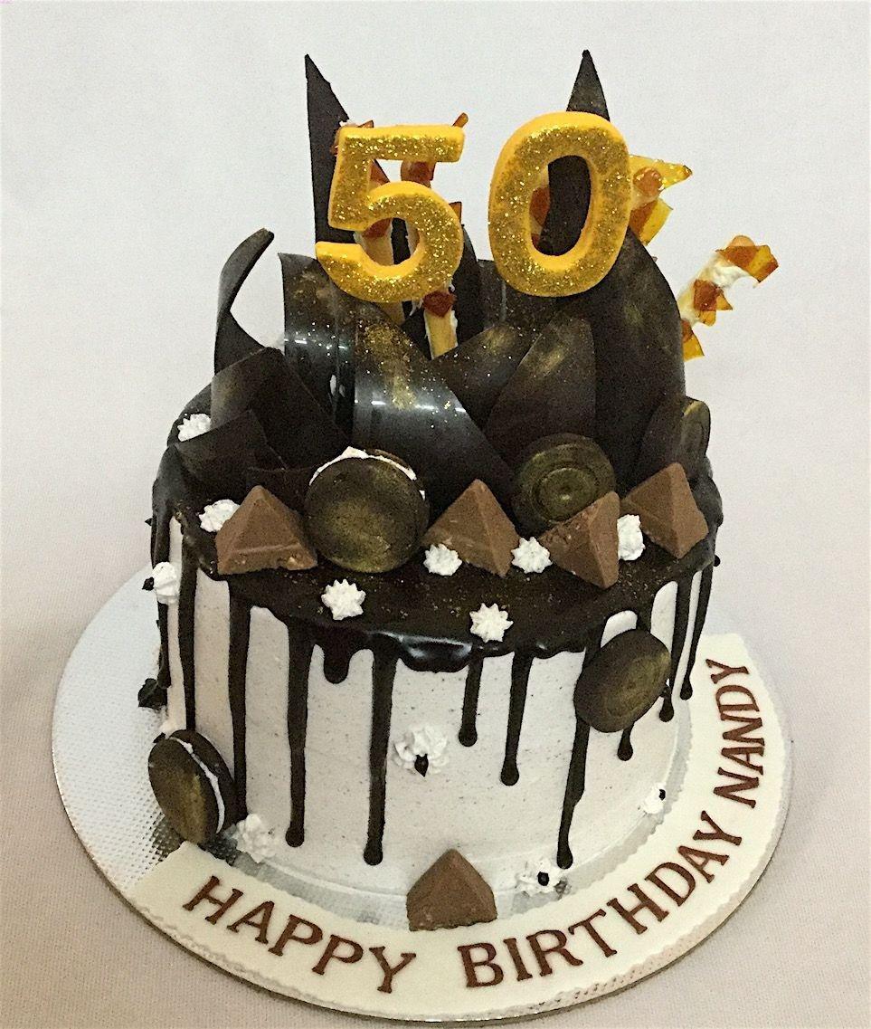 Wondrous 32 Pretty Photo Of 50Th Birthday Cake 50Th Birthday Cake Birthday Cards Printable Inklcafe Filternl