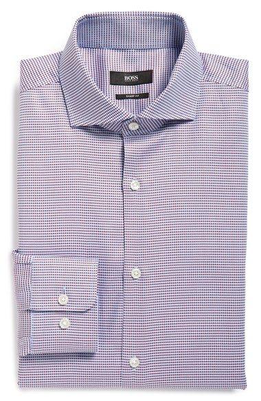 BOSS 'Mark' Sharp Fit Check Dress Shirt