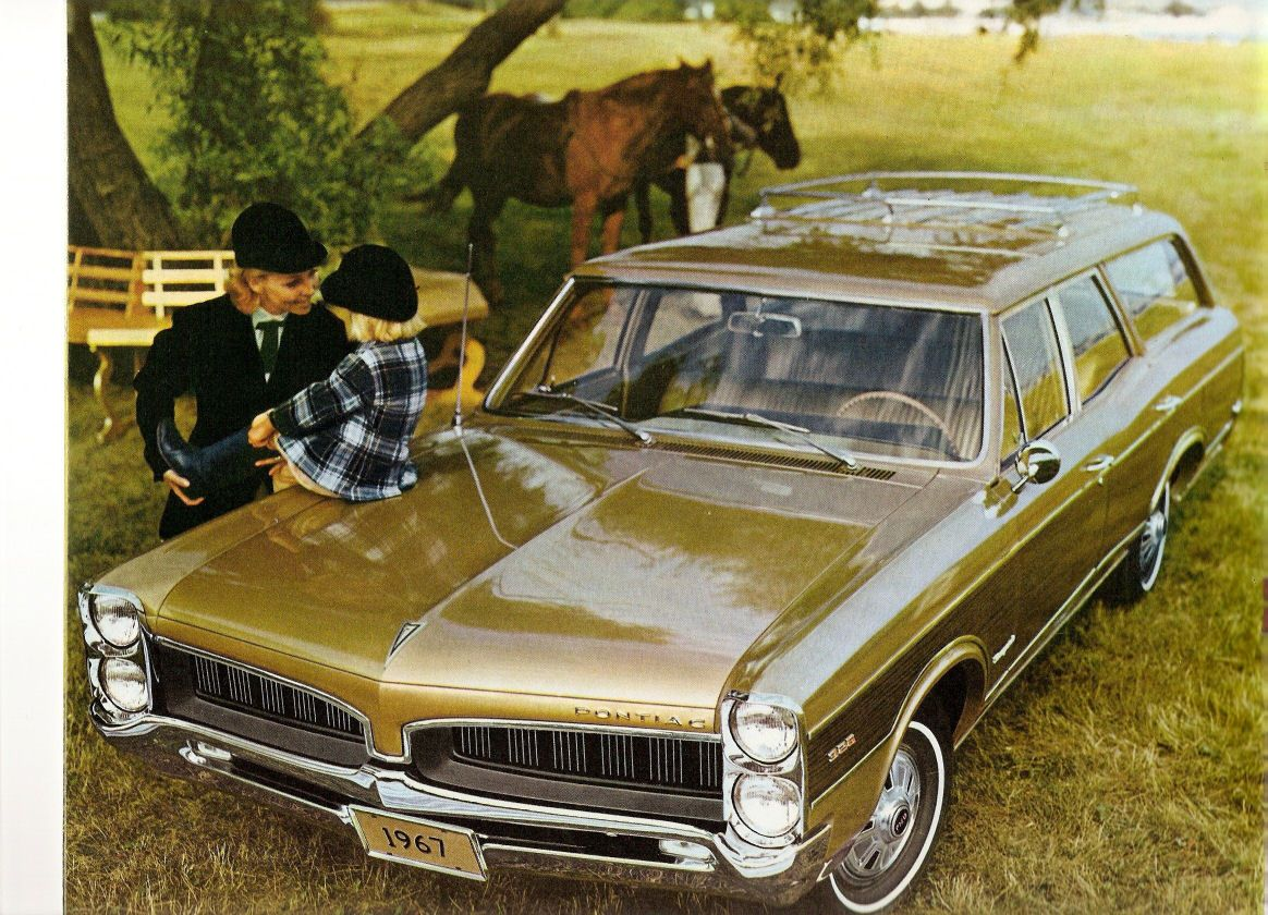 1967 Pontiac Wagons Brochure Pontiac Lemans Station Wagon Cars Station Wagon