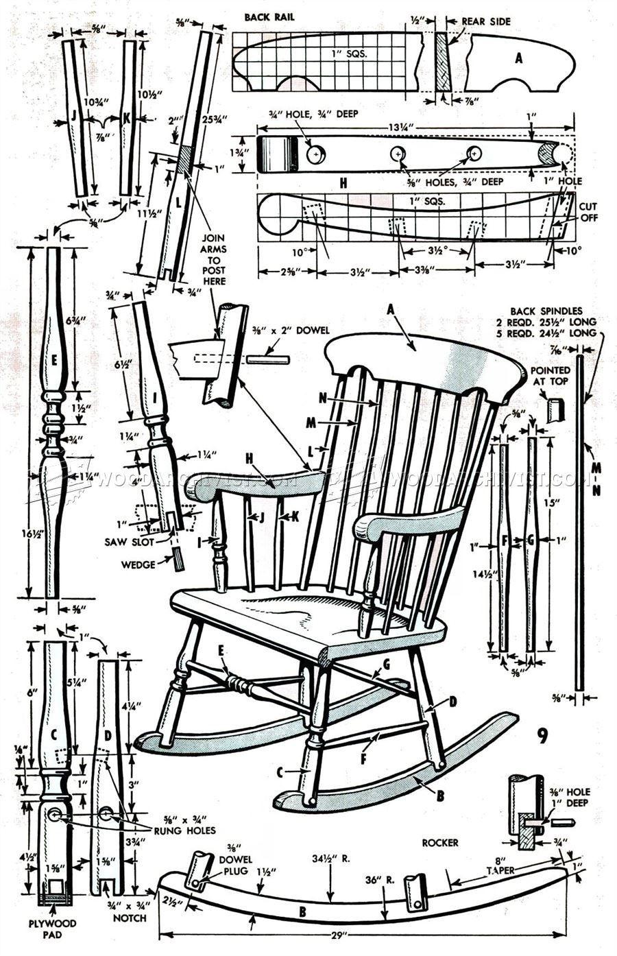 boston rocking chair plans furniture plans