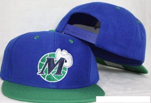 555058dcb03 Dallas Mavericks Snapback Blue   Green Two Tone Adjustable Plastic Snap  Back Hat   Cap by