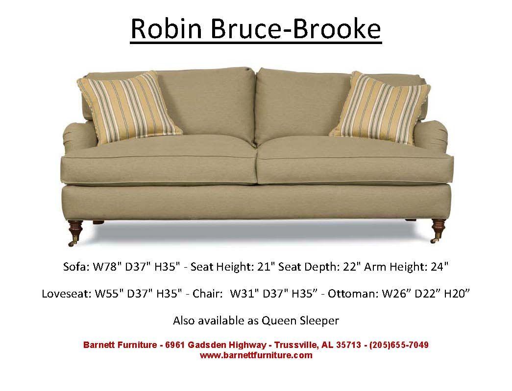 Robin Bruce Brooke Sofa You Choose The Fabric New House Pinterest Apartment Size Sofa