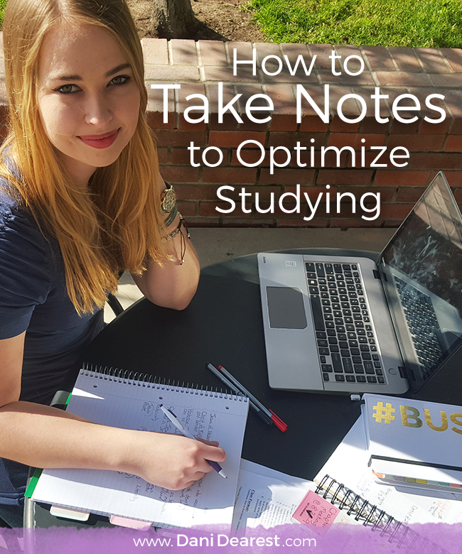 How to Take Notes to Optimize Studying Time | College ...