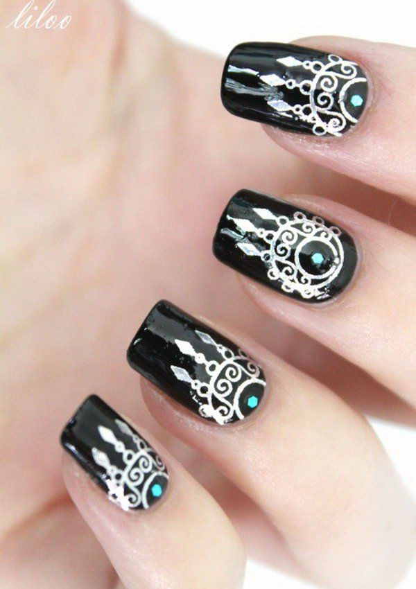 #nailartdesigns #abstractnailartdesigns Dream Catcher Nails, Pretty Nails,  Love Nails, Fun Nails - 40 Inspirational Nail Art Inspired By Native American Designs