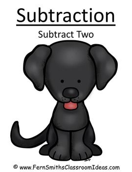 ** 50% Off for the First Two Days! ** Subtract Two - Puppy Themed - Quick and Easy Centers and Printables #TPT $Paid