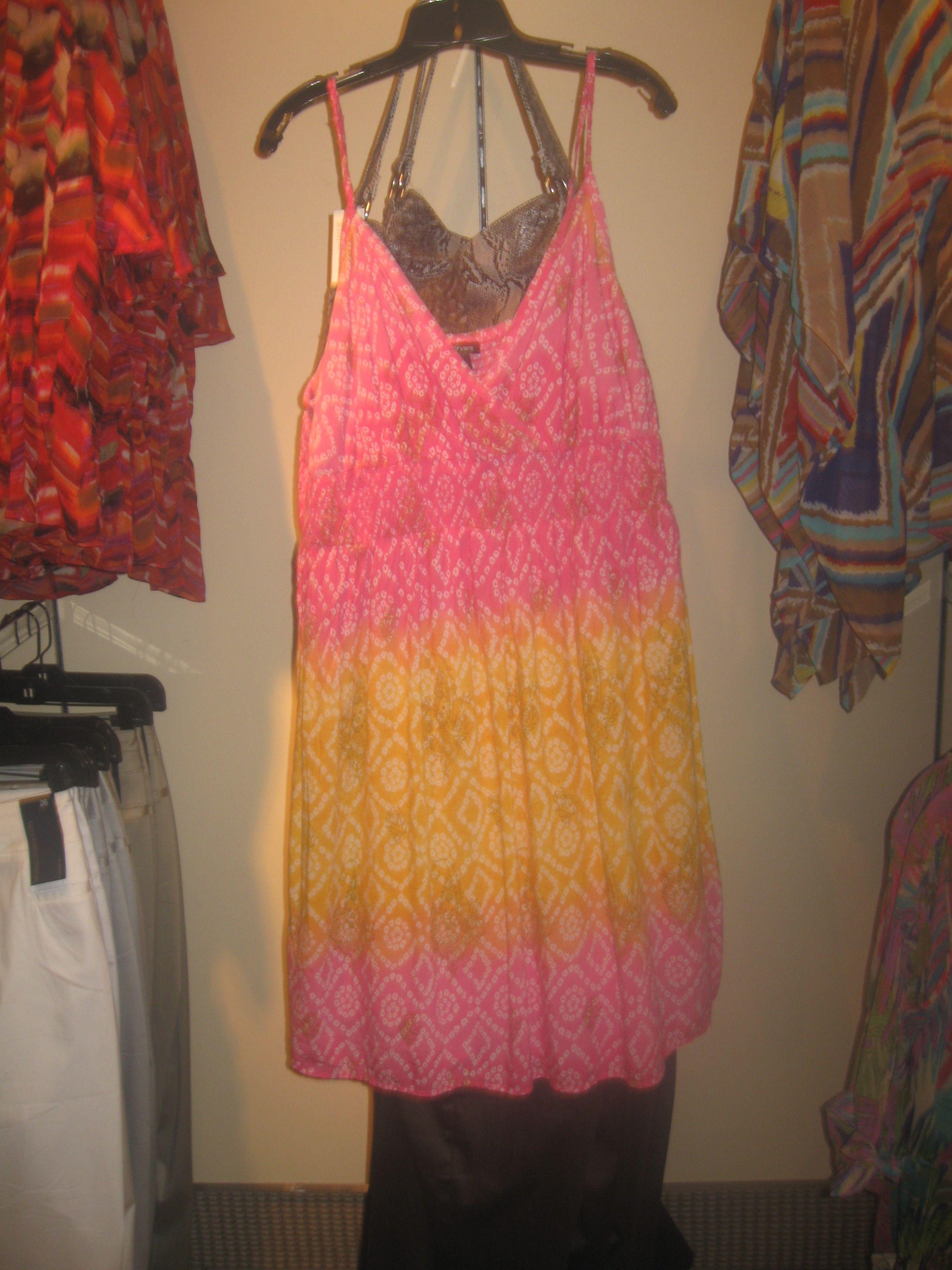 From Lane Bryant: Pink/Yellow Dress. Sizes 14-28. $59.95